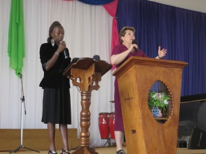 Mary Preaching at Gospel Messengers Church
